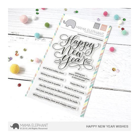 Mama Elephant - Stamp - Happy New Year