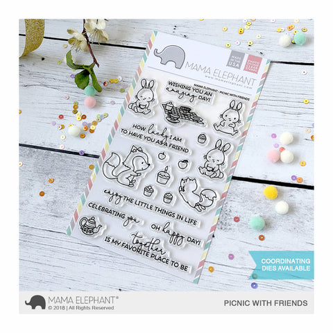 Mama Elephant - Stamp & Die Set - Picnic With Friends