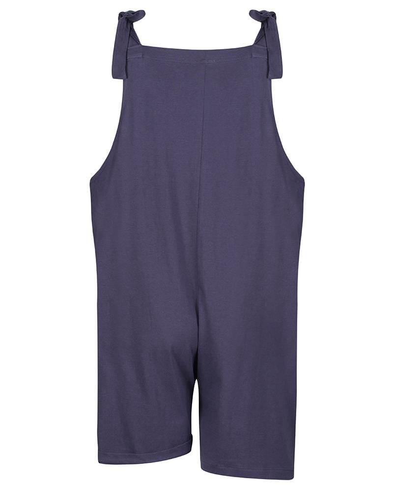 Ladies Short Dungarees- Navy - Turtledovelondon