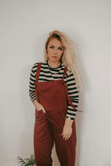 Ladies long slv tee - Mono stripe - Turtledovelondon