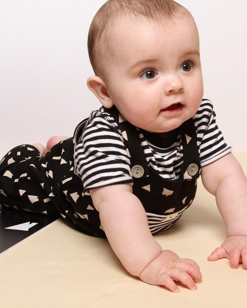 Easy Fit Dungaree- Geo Roof - Turtledovelondon
