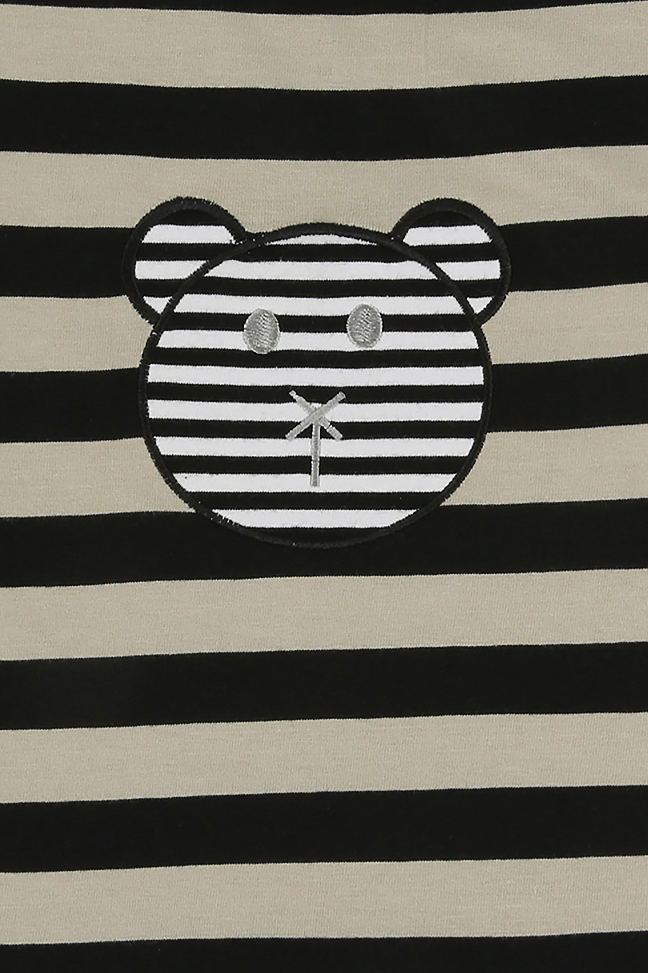 Long Length T - Stripe Character Applique