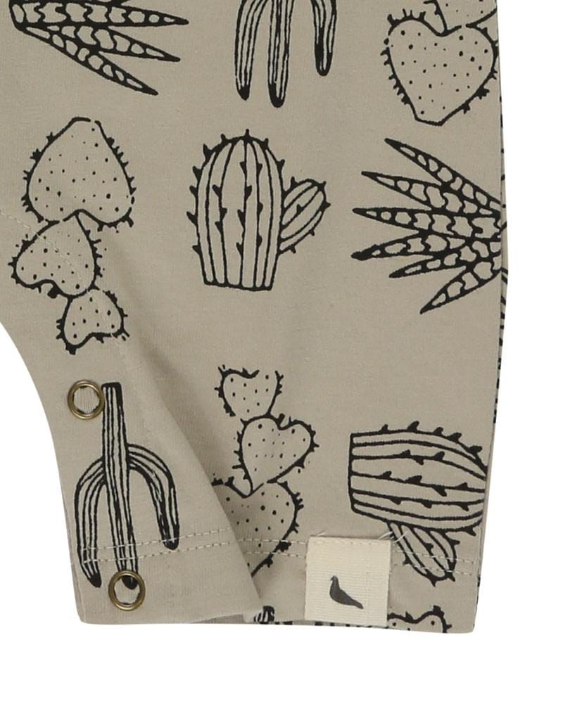 Raglan Romper- Cactus Print - Turtledovelondon