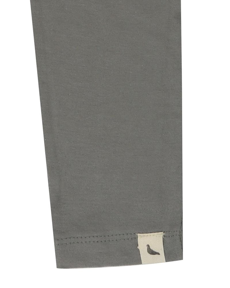Slim Fit Leggings- Knee Print Grey