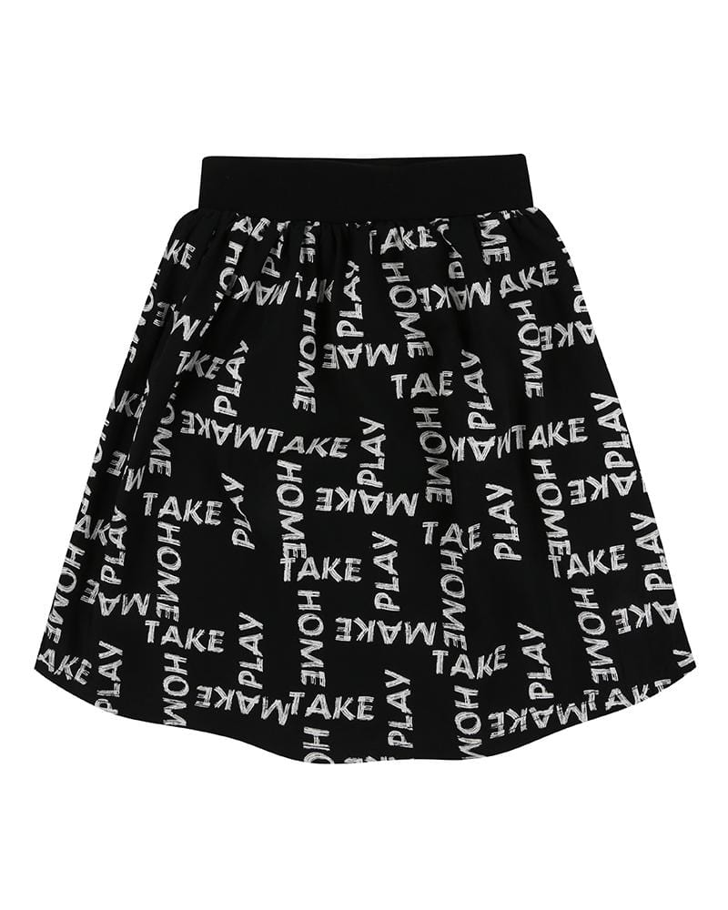 Midi Skirt- Woven Words - Turtledovelondon