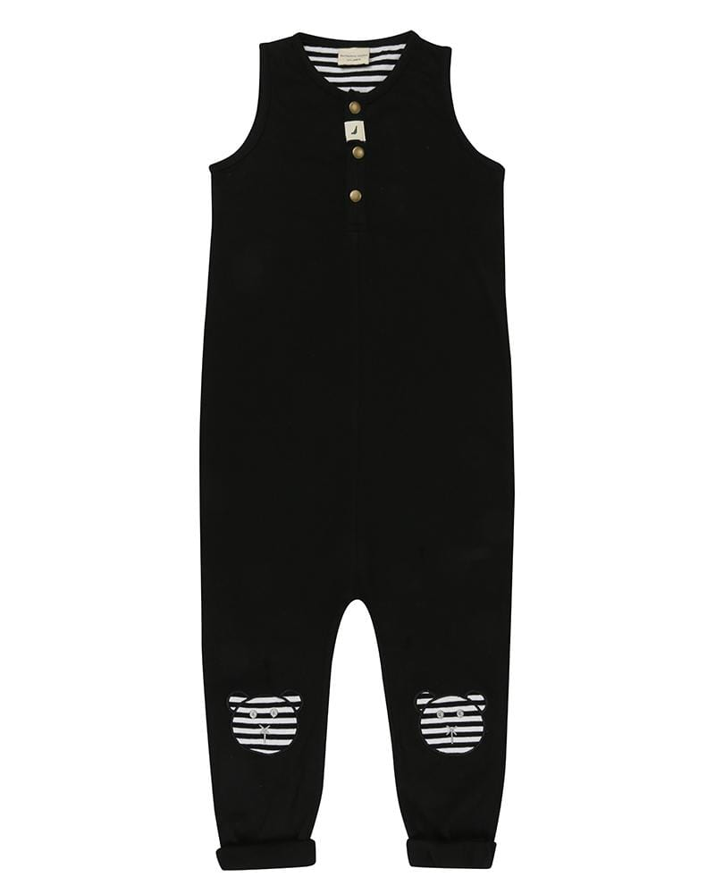Tank Dungaree- Applique Knees