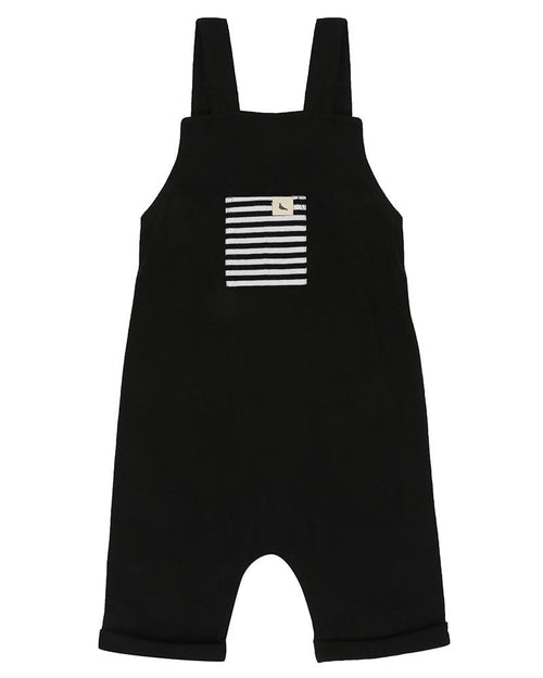 Shortie Dungaree- Black - Turtledovelondon