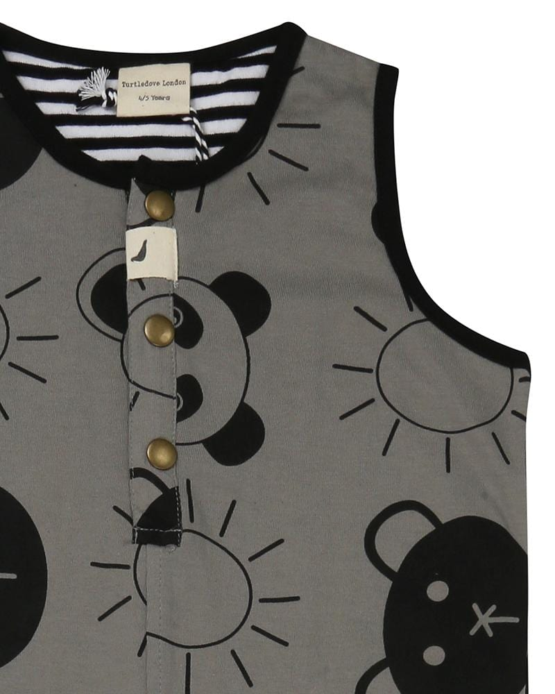 Tank Dungaree Beach Pals - Turtledovelondon