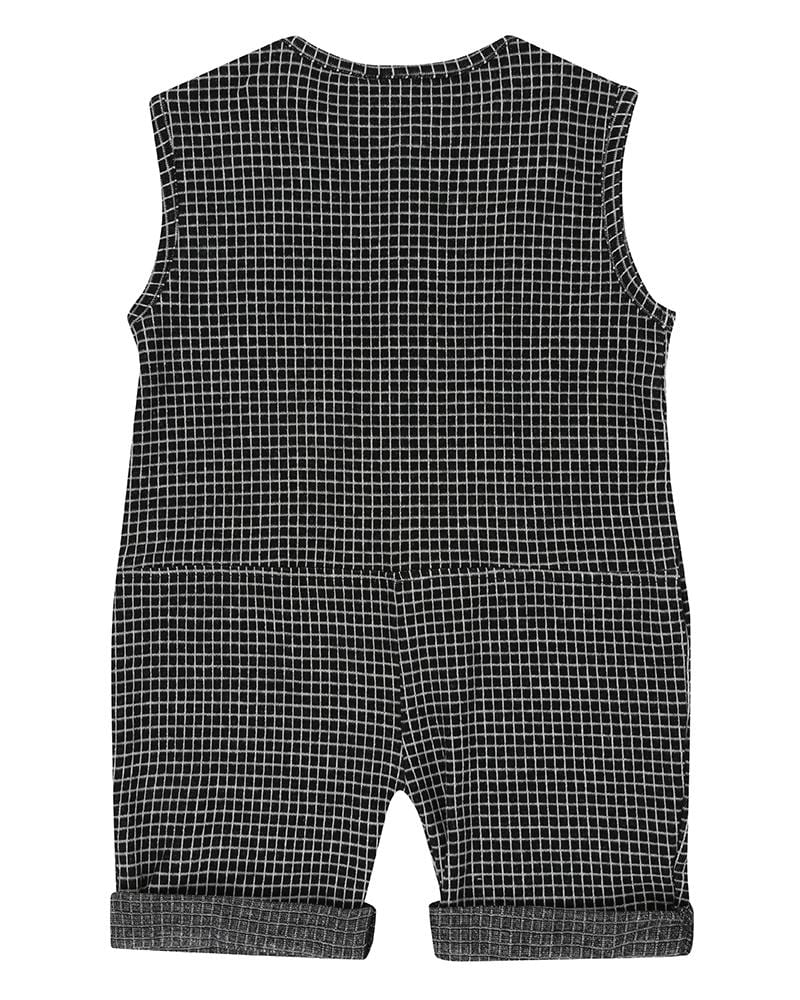 Grid Jersey Shortie All-In-One