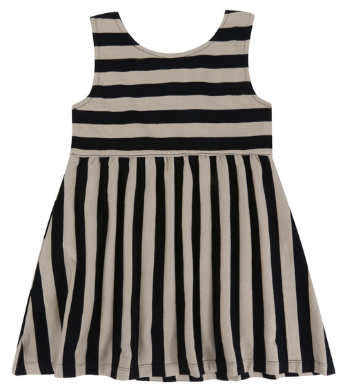 Wide Stripe Midi Dress