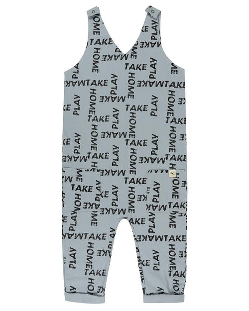 Deep V Dungarees- Woven Words