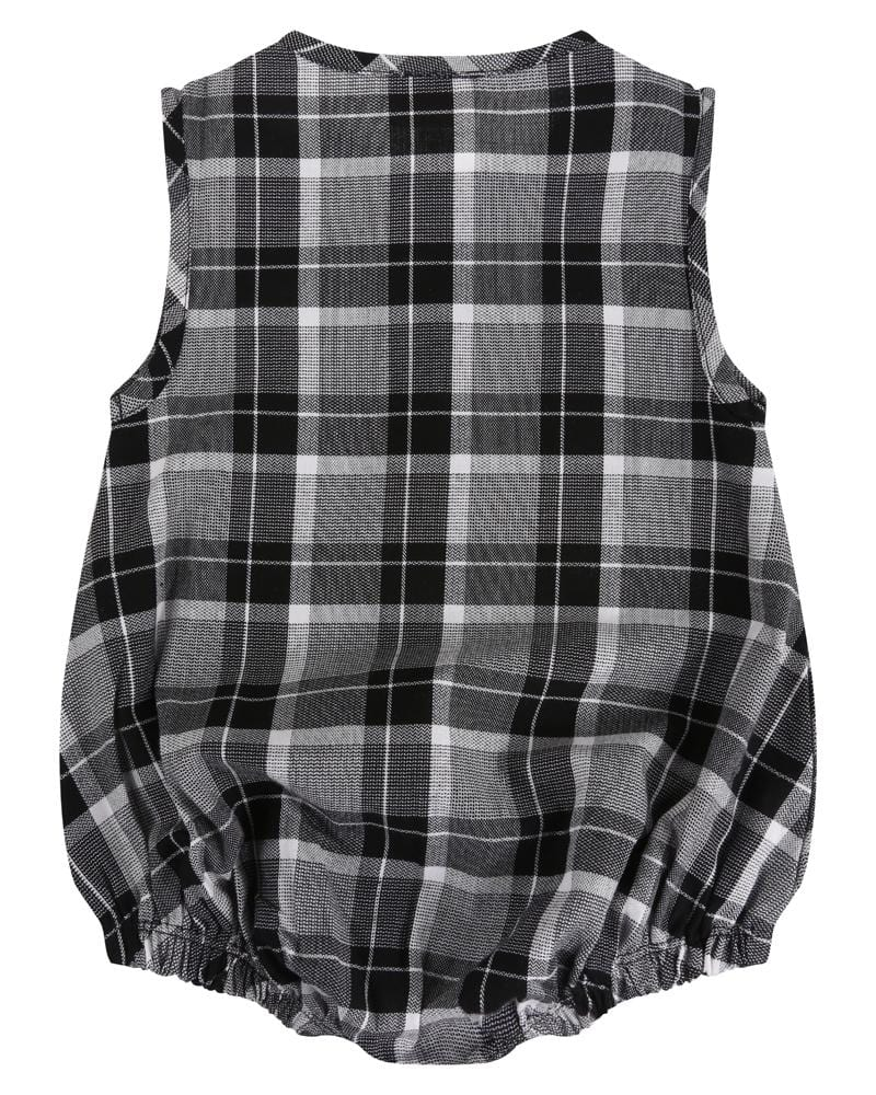 Woven Check Bubble Romper - Turtledovelondon