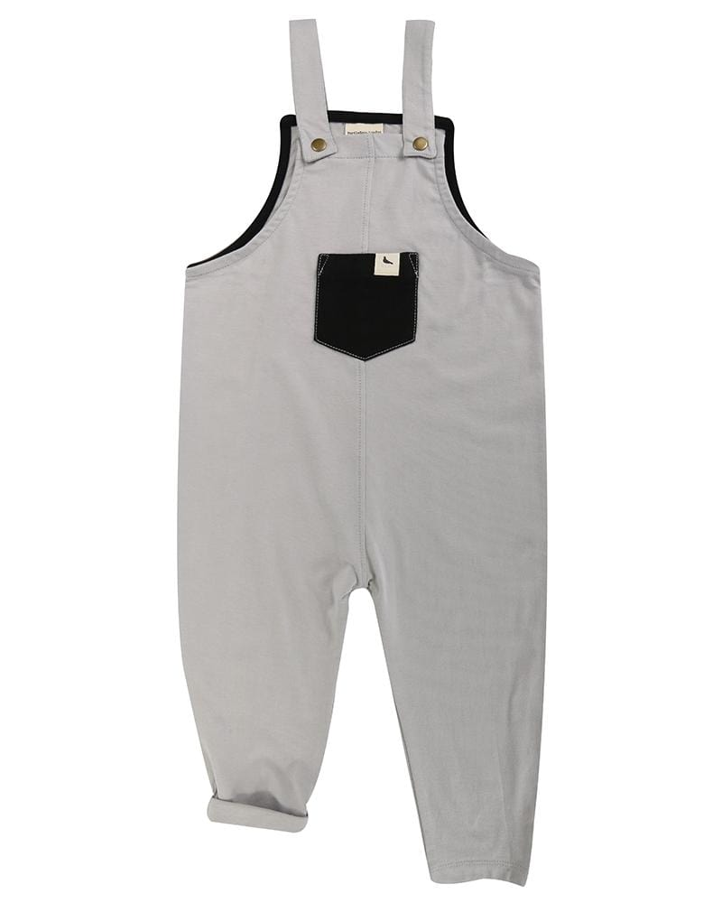 Plain Easy Fit Dungarees - Turtledovelondon
