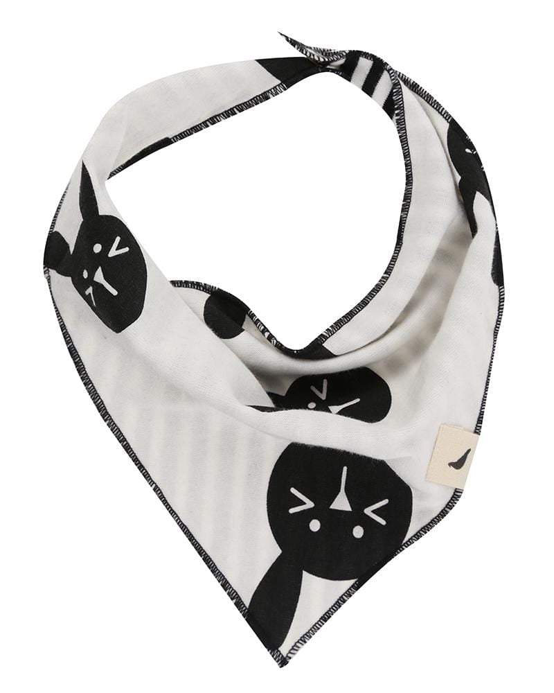 Bunny & Stripe Bib Reversible - Turtledovelondon