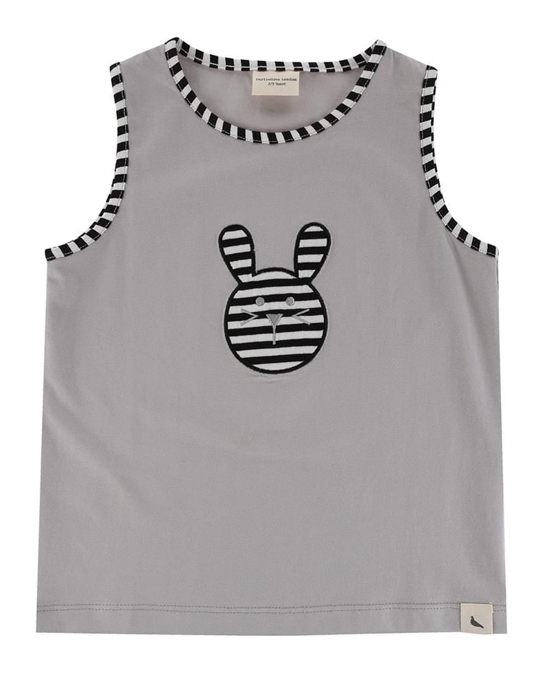Rabbit Applique Tank - Turtledovelondon