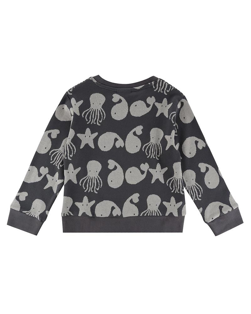 Sea Friends Jaquard Sweatshirt - Turtledovelondon