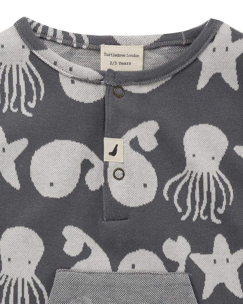 Sea Friends Jaquard Shortie Tank - Turtledovelondon