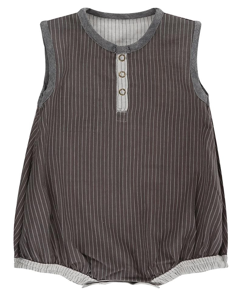 Reversible Woven Stripe Bubble Romper - Turtledovelondon