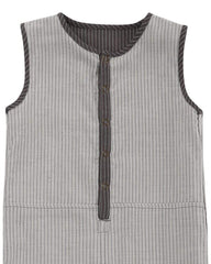 Reversible Woven Stripe Tank Dungaree - Turtledovelondon