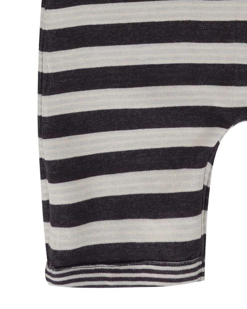 Reversible Jersey Stripe Shortie Dungaree - Turtledovelondon