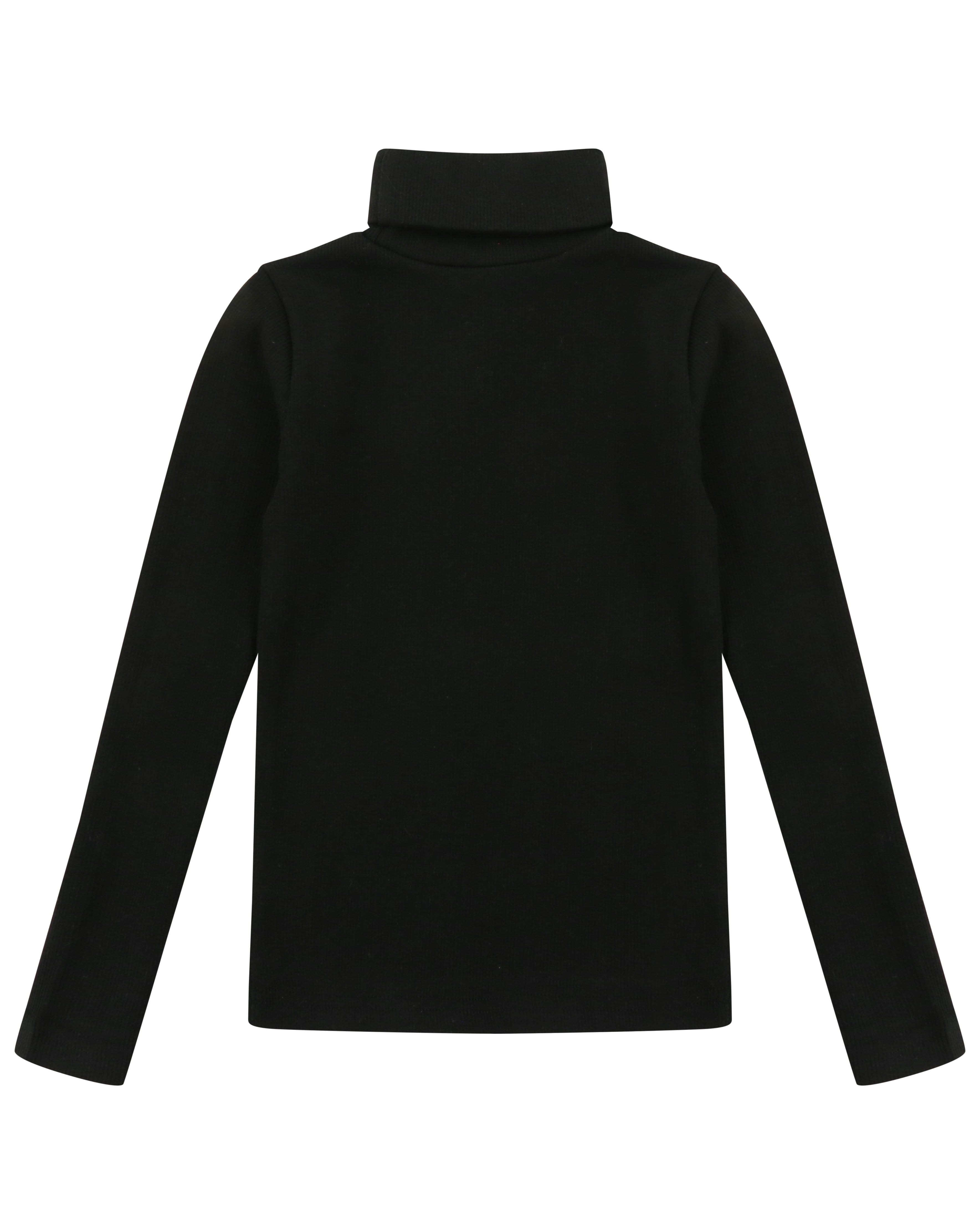 Roll Neck Top Black - Turtledovelondon