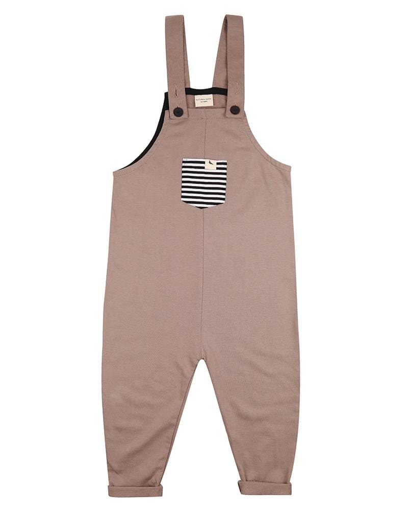Stone Easyfit Dungarees - Turtledovelondon