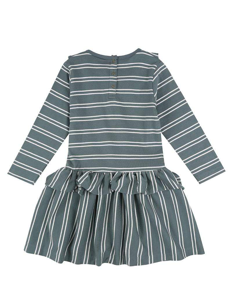 Steel Stripe Dress - Turtledovelondon