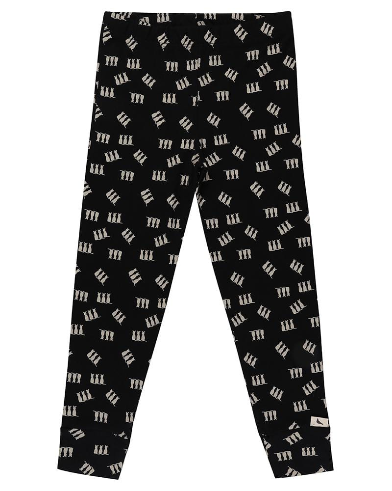 Monochrome 3 Cats Leggings - Turtledovelondon