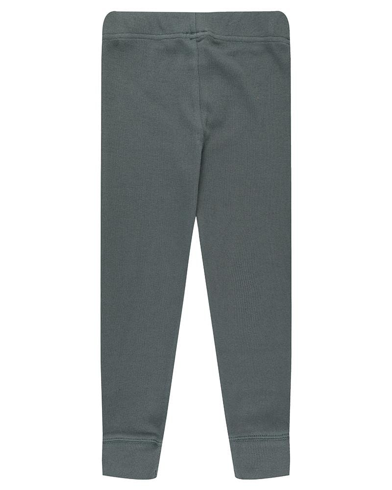 Rib Leggings Steel - Turtledovelondon