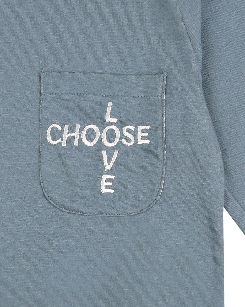 Embroidered Pocket T - Choose Love - Turtledovelondon