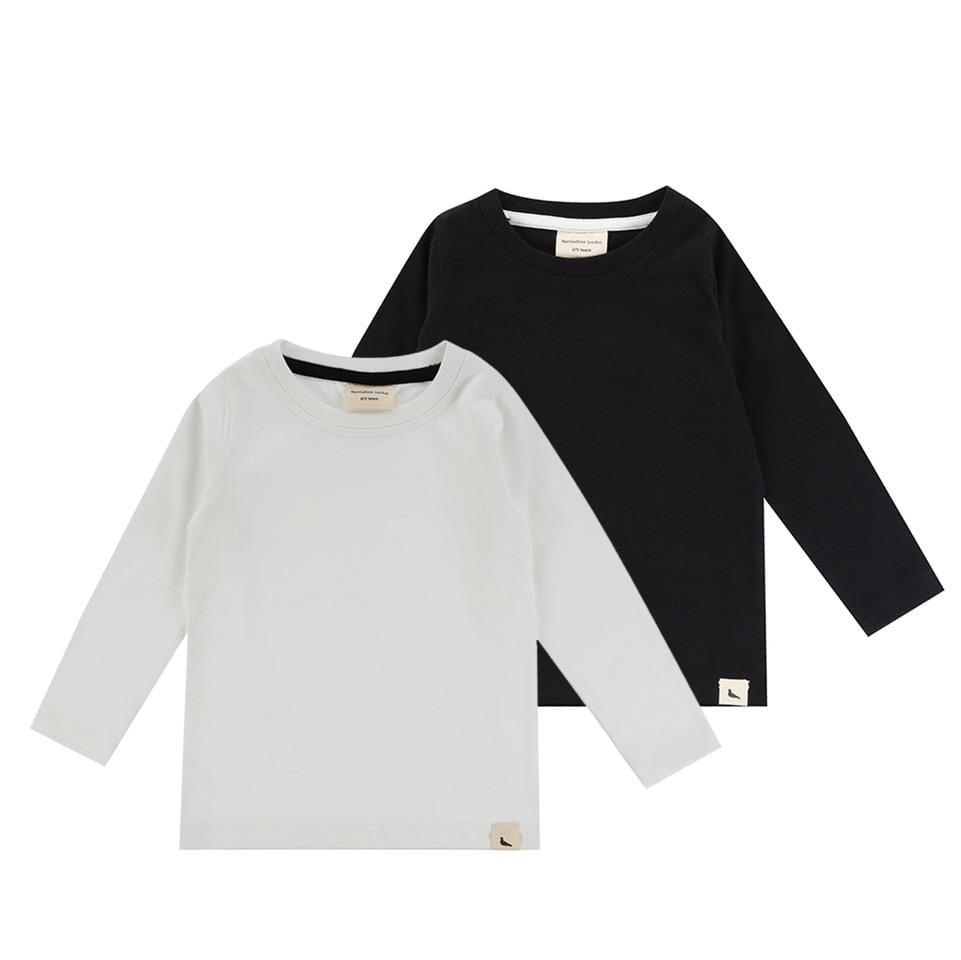 2 Pack Layering Top - Ecru/Black - Turtledovelondon