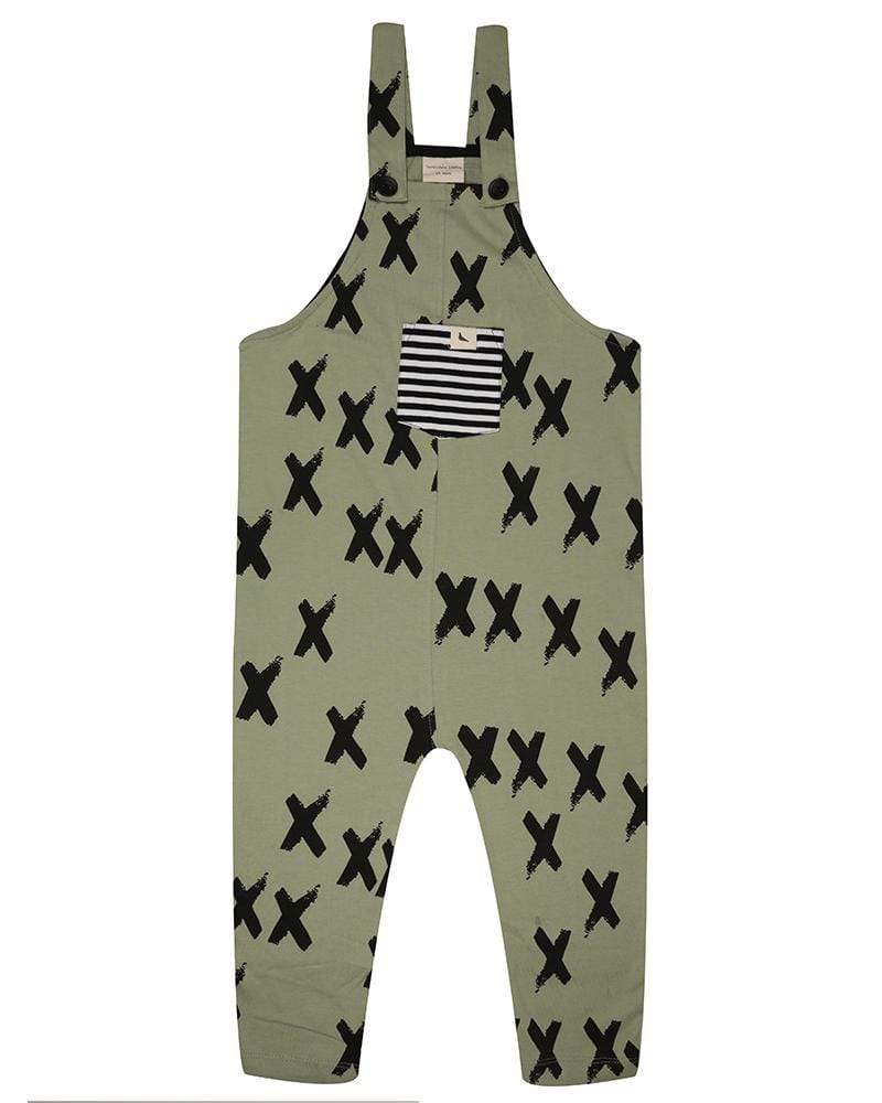 Kiss Goodbye  Easy fit dungaree - Turtledovelondon