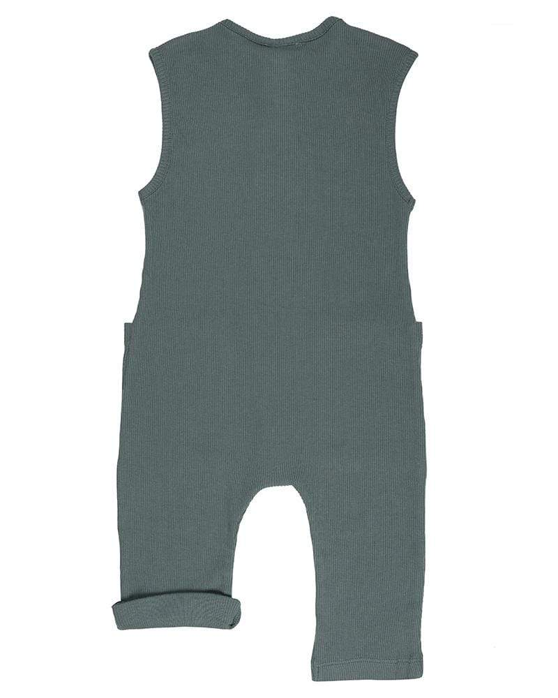 Rib Dungaree - Steel - Turtledovelondon