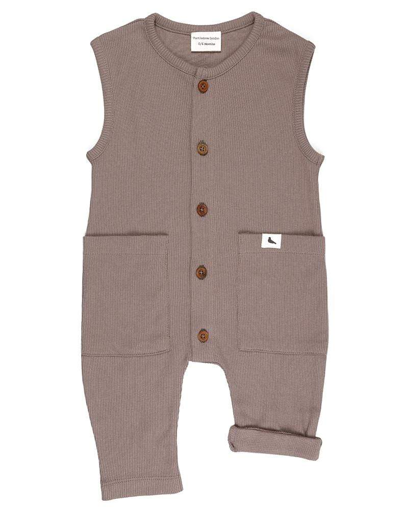 Rib Dungaree - Stone - Turtledovelondon