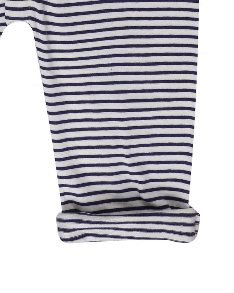 Navy/Ecru Stripe Dungaree - Turtledovelondon