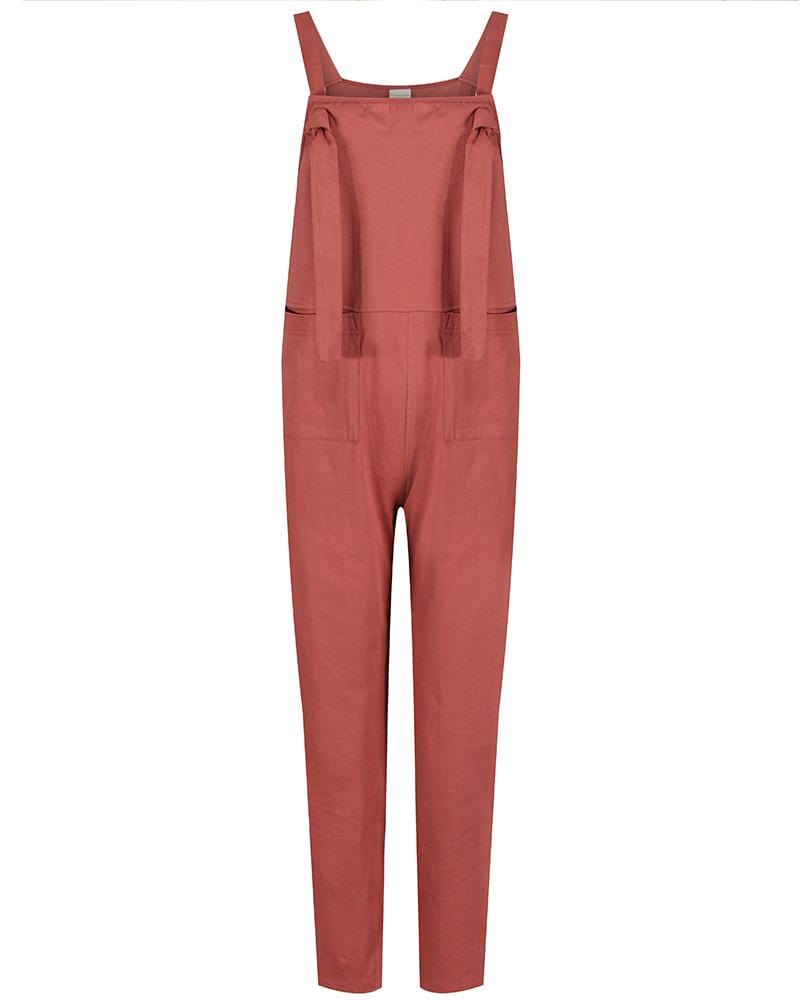 Ladies dungaree - Brick - Turtledovelondon