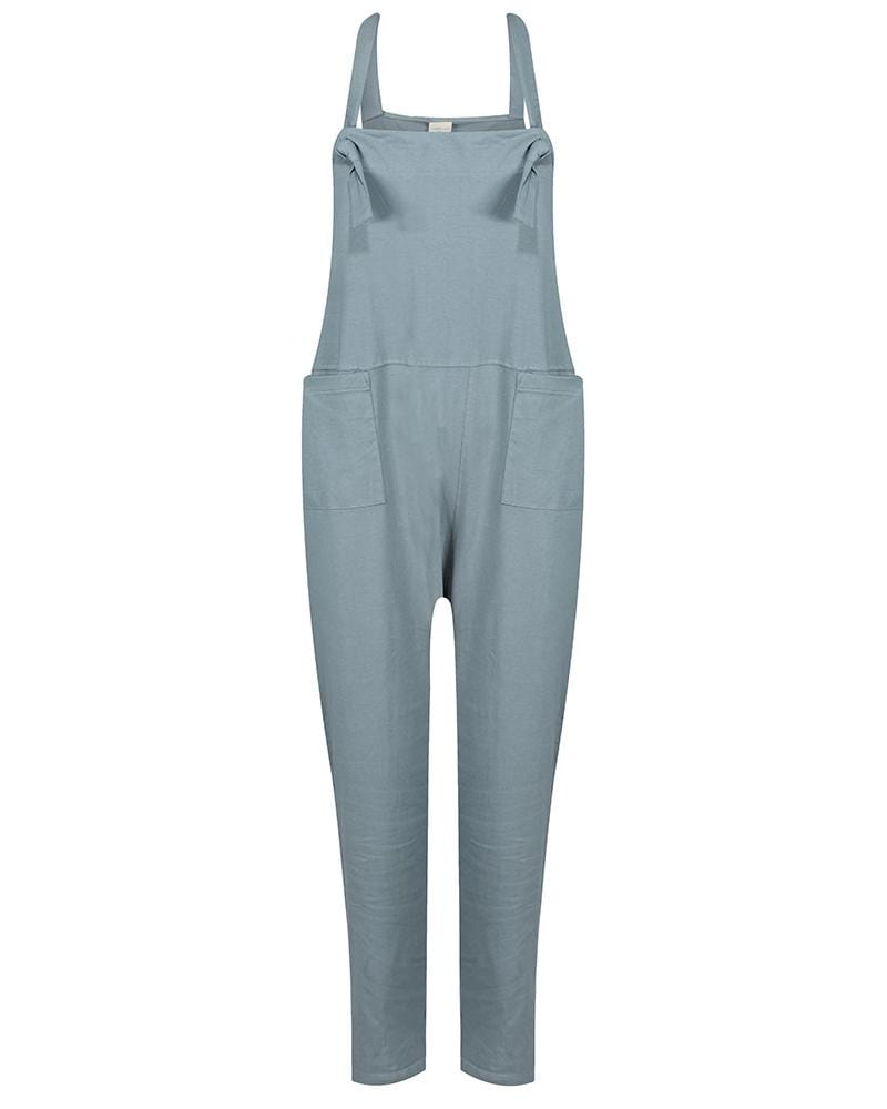 Ladies dungaree - Steel - Turtledovelondon