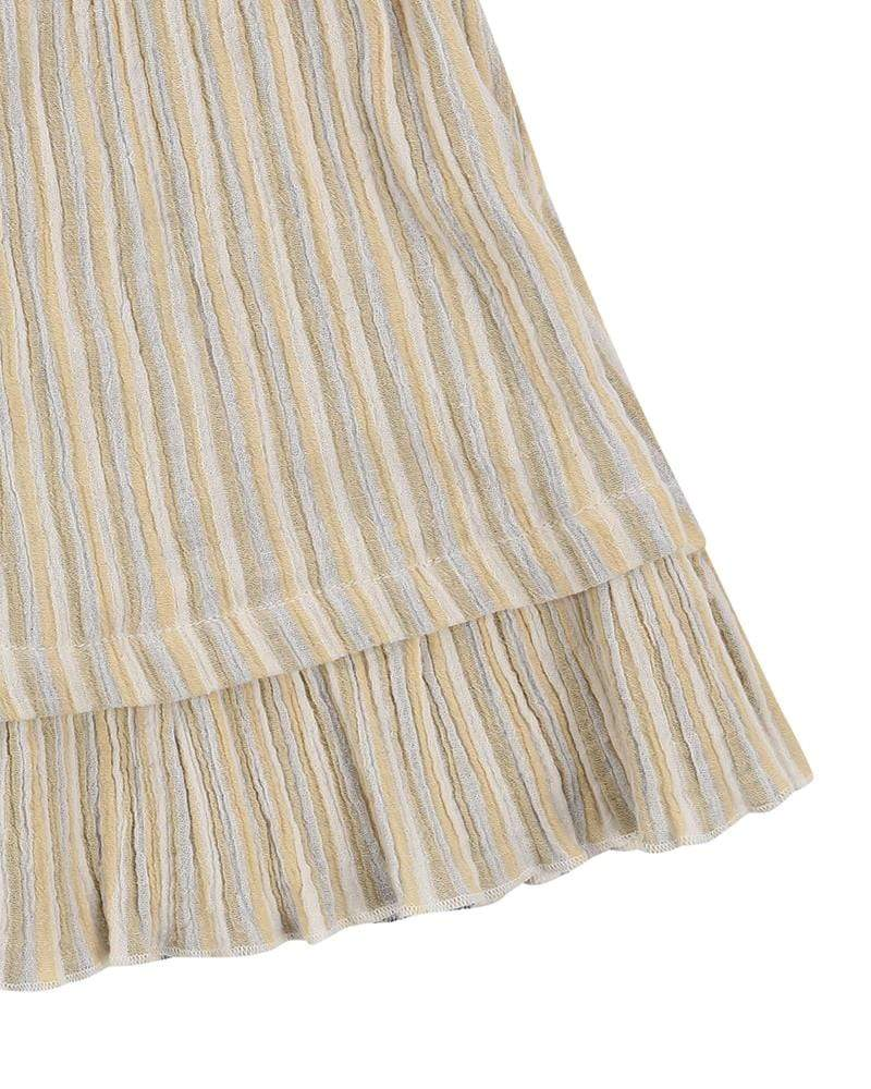 Reversible Midi Skirt - Crinkle Stripe - Turtledovelondon