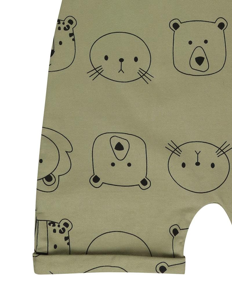 Cub Faces Shortie Dungarees - Turtledovelondon