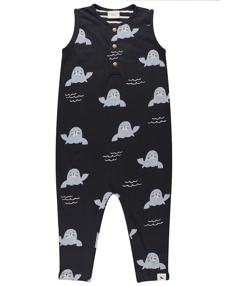 Walrus Shortie Dungarees - Turtledovelondon
