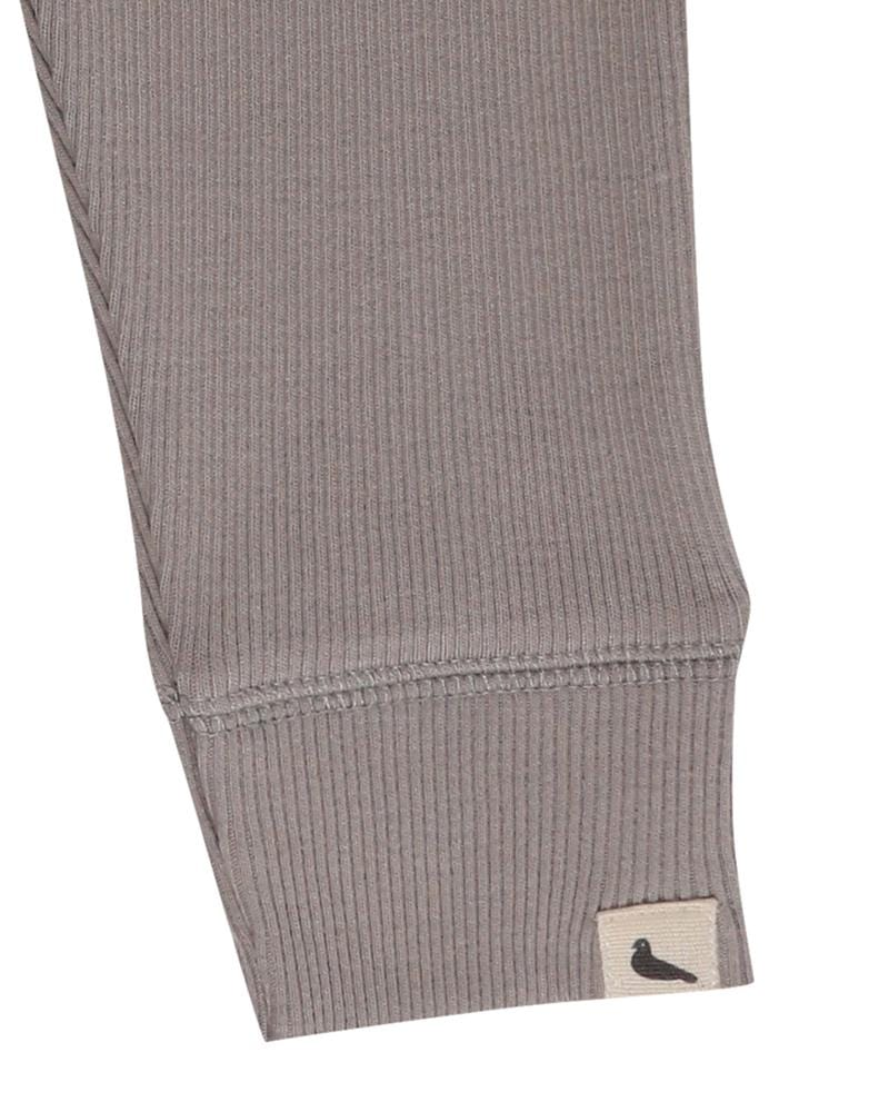 Grey Rib Leggings - Turtledovelondon