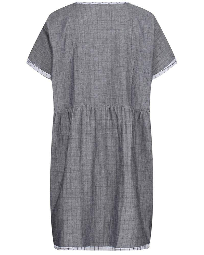 Ladies Chambray/Check Tunic - Turtledovelondon