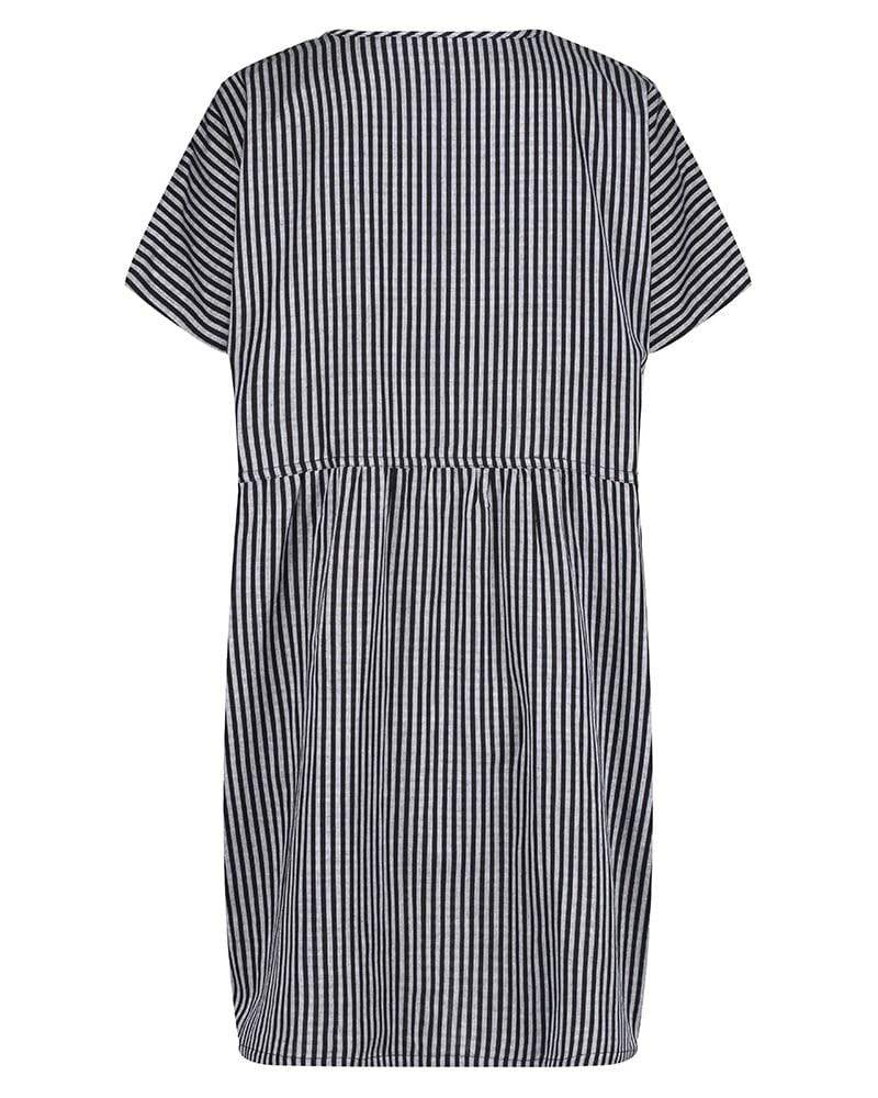 Reversible Tunic Dress - Crinkle stripe - Turtledovelondon