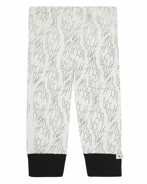 Wings Print Monchrome Leggings