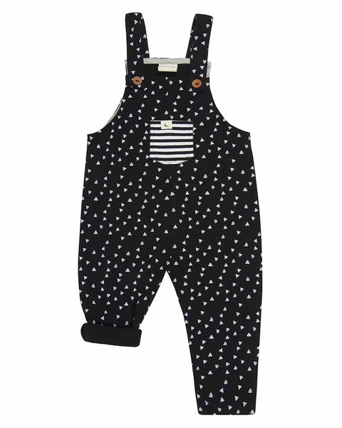 Monochrome Geo Hive Easy Fit Dungaree