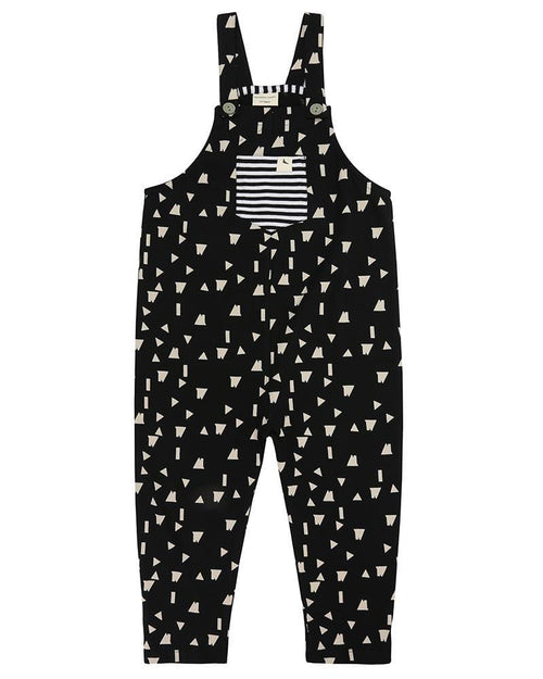 Easy Fit Dungaree- Geo Roof