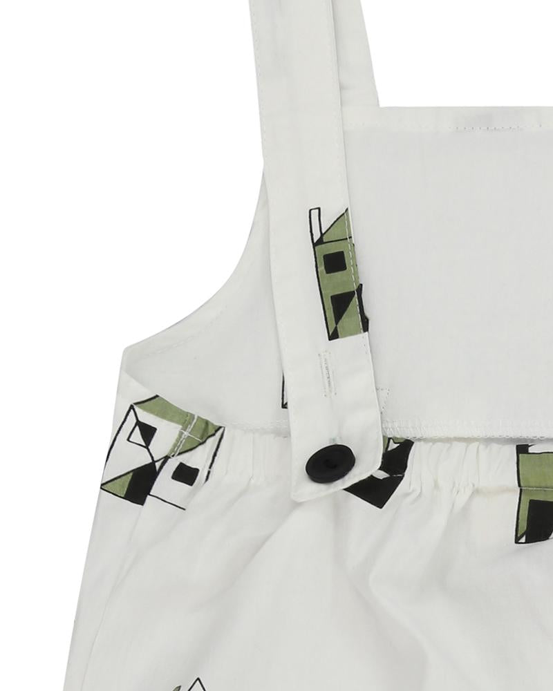 Shortie Woven Dungaree- Our House
