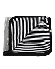 Jersey Blanket- Kisses/Stripe