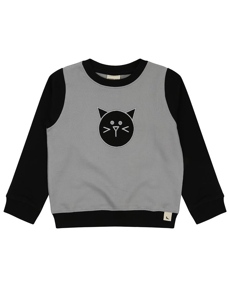Cat Applique  Sweatshirt