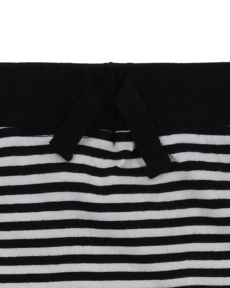 Drop Crotch Shorts- Humbug Stripe - Turtledovelondon
